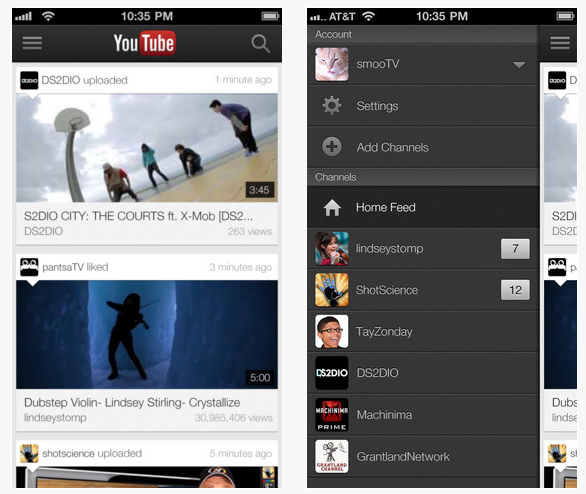 aplicatie youtube iphone